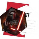 wholesale Party Items: Star Wars Party Invitation 6 pcs