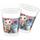 wholesale Drinking Glasses: Sheriff Callie,  Sheriff Plastic Cup 8 pcs
