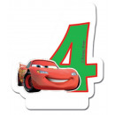 Disney Cars , Verdas cake candle, number candle