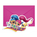 Shimmer and Shine Party Invitation with 6 pieces