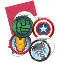Avengers , Zaproszenie na przyjęcie Avengers 6 szt