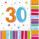 Happy Birthday 30 napkins 16 pieces 33 * 33 cm