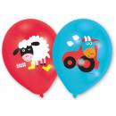 Boerderij ballon, ballon met 6 stuks