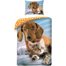 dog, The Dog bed linen cover 140 x 200 cm, 70 x 90
