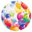 Balloons, Lufis Papírtányér 8 db-os 23 cm