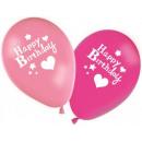 hurtownia Upominki & Artykuly papiernicze: Happy Birthday  dziewczyna balony, balony 8 szt