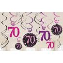 wholesale Decoration: Happy Birthday 70 Ribbon decoration set of 12 piec