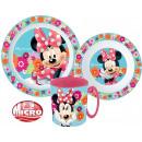 Tableware, micro plastic set for Disney Minnie