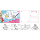 Großhandel Glückwunschkarten: Färbung Postkarte Disney Princess , Prinzessinnen