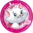 Disney Marie chat, chaton Assiette en carton 8 piè