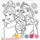 wholesale Pictures & Frames: Disney Princesses canvas canvas picture paint set