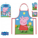 Kid's Apron 3 Piece Set of Peppa Pig