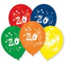 Happy Birthday 20 léggömb, lufi 10 db-os (25,4 cm)