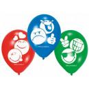 Emoji balloon with 6 balloons