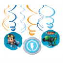 Rusty Rivets Ribbon Decoration Set of 6 Pieces