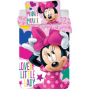 Kinder Bettwäsche Plüsch Disney Minnie 100 × 135cm