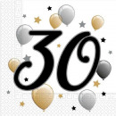 Happy Birthday 30 szalvéta 20 db-os