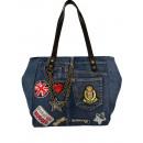 groothandel Handtassen:Handtas Qischa blauw