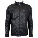 wholesale Coats & Jackets: LEATHER JACKET MEN JACKET FAKE. N2588
