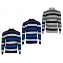 wholesale Pullover & Sweatshirts: PULL OVER A MAN  STRIPE NECK HIGH. 603-B