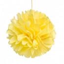 groothandel Home & Living: Zijdepapier pompom 10cm gele zon