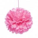 groothandel Home & Living: Zijdepapier 30cm roze pompom