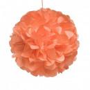 groothandel Home & Living: Zijdepapier pompom 10cm oranje