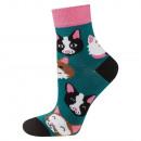 SOXO socks for women, cats