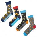 Großhandel Strümpfe & Socken: SOXO GOOD STUFF bunte Herrensocken - 4 Paar