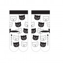 SOXO women's socks white-black - cats