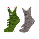wholesale Shoes: Knitted slippers  SOXO crocodiles and sharks