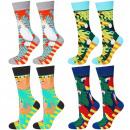 SOXO GOOD STUFF women's socks, set of 4 pairs