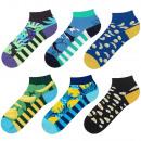 Großhandel Strümpfe & Socken: SET 6 Paar SOXO bunte Socken männliche Füße