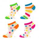 Großhandel Strümpfe & Socken: Damensocken Fuß SOXO bunte Muster