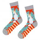 wholesale Fashion & Apparel: SOXO GOOD STUFF socks with white parrots