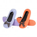 wholesale Shoes: Slippers for women  SOXO ballerina with bow spotted