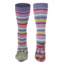 Female socks SOXO 3D hippo with colorful stripes