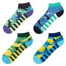 Großhandel Strümpfe & Socken: SET 4er Pack SOXO bunte Socken Herrenfüße