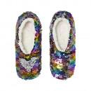 grossiste Chaussures: Paillettes de ballerine de Noël noires 39-40