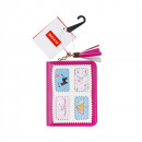 SOXO wallet in fuchsia color - OKIENKO