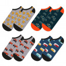 SOXO GOOD STUFF men's socks, set of 4 pairs