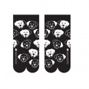 SOXO women's socks white-black - dogs