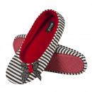 Női papucs BALERINY SOXO piros gombokkal
