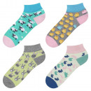 Großhandel Strümpfe & Socken: SET 4pak Bunte SOXO Socken Damenfüße