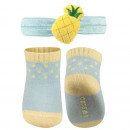 SOXO set of baby socks and headband