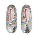 grossiste Chaussures: Paillettes de ballerine de noel pastel 37-38