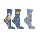 Großhandel Strümpfe & Socken: SOXO Damensocken mit Geschichte, 2 Paar