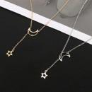 grossiste Chaines: MOON STAR : Le Collier Pendentif Lune et Étoile
