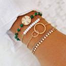 MILEY: Set van 4 Bohème Chic armbanden