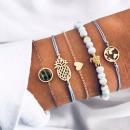 ingrosso Gioielli & Orologi: BRACCIALE NICKI: 5 braccialetti in stile tropicale